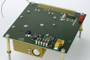 Piezoelectric motor driver for CubeSat.